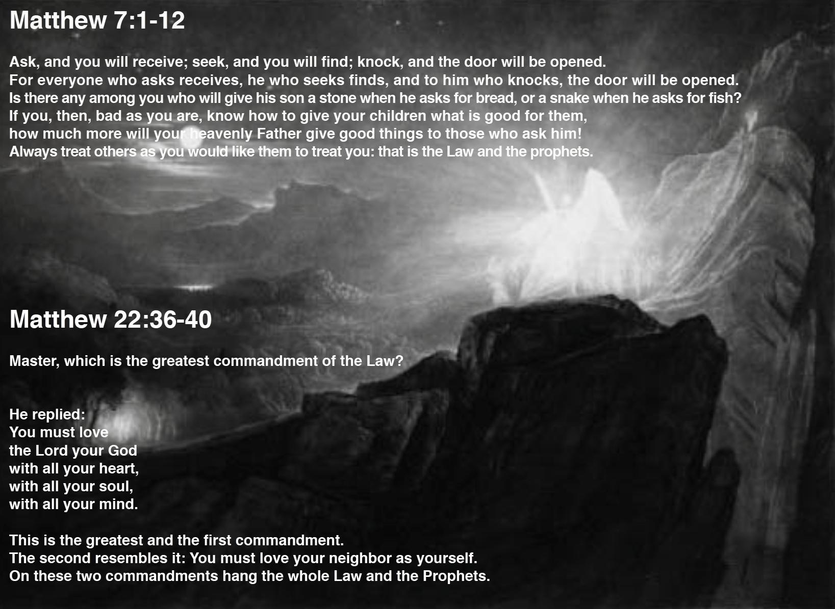 39 Matthew 7 & 22