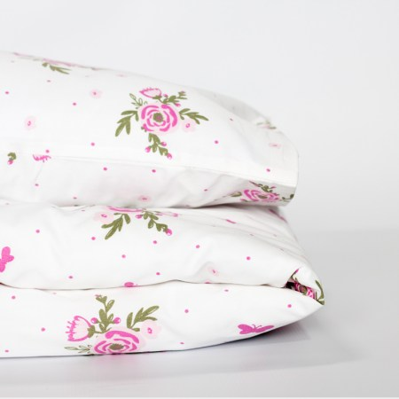 Cot duvet cover set - Blooms & butterflies design