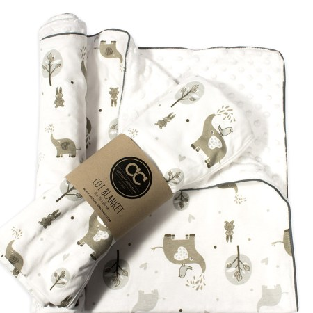 Ellie and Friends Design Baby cot blanket