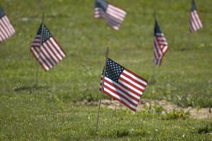 Memorial Flag Close up