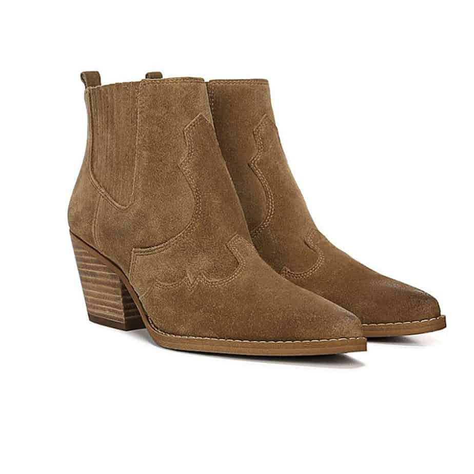Sam Edelman Winona Western Style Boot In Hazelnut Cotton Island Women S Clothing Boutique