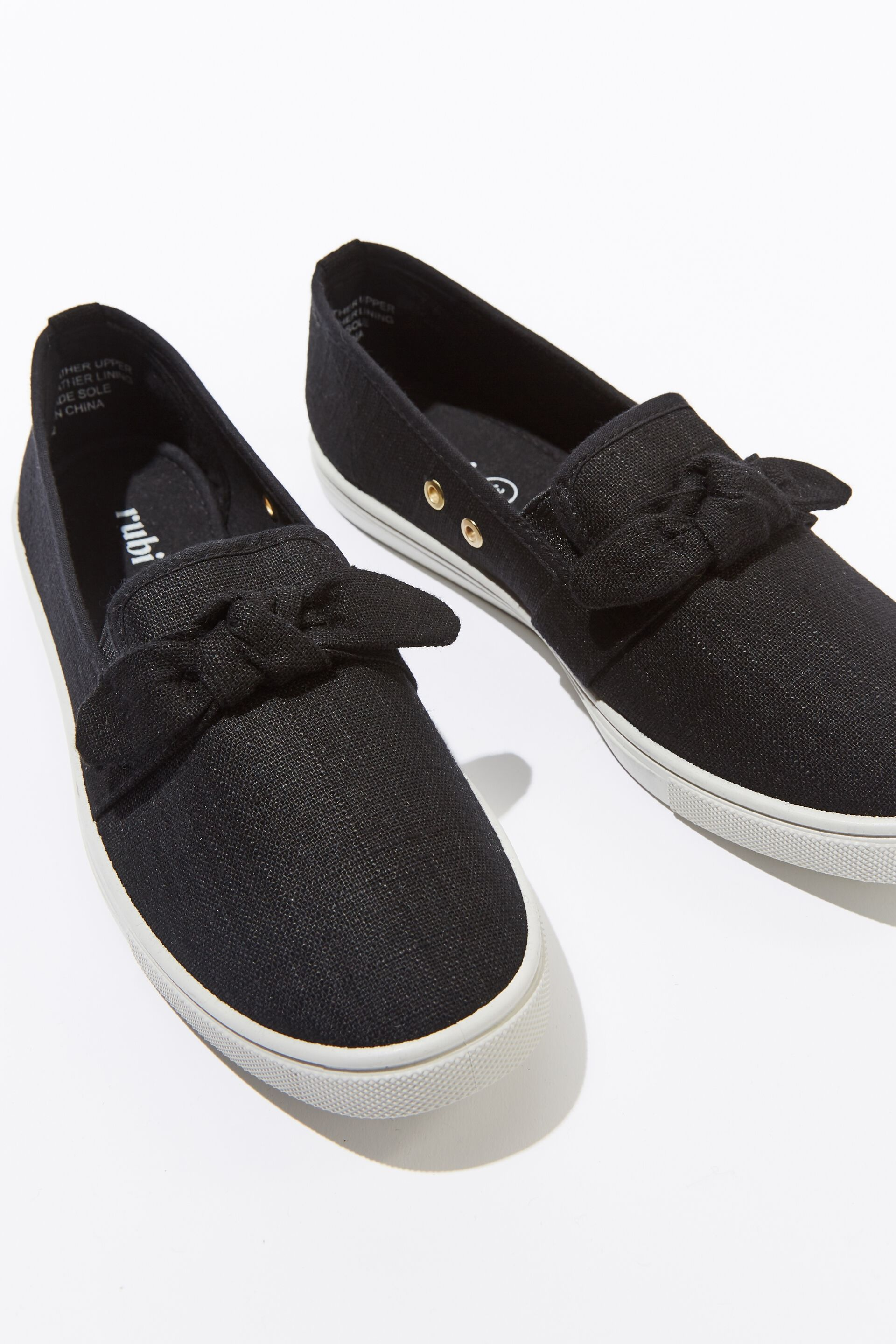 Black And White Slip On Shoes