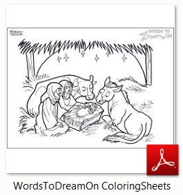 Words To Dream On ~ Book Review and Free Coloring Sheets