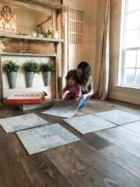 Inexpensive Farmhouse Hacks - Wood Look Tile Flooring ...