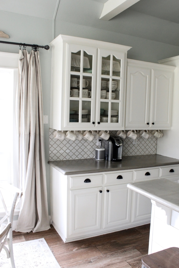 How We Hung Our Mugs Under The Cabinets Hint Easy Cotton Stem