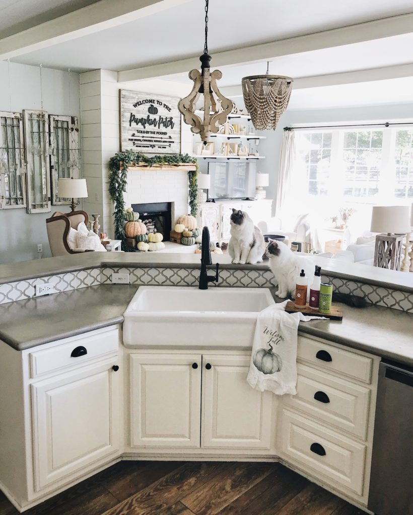 drop in farmhouse kitchen sinks boos island inexpensive hacks - diy concrete counters and ...
