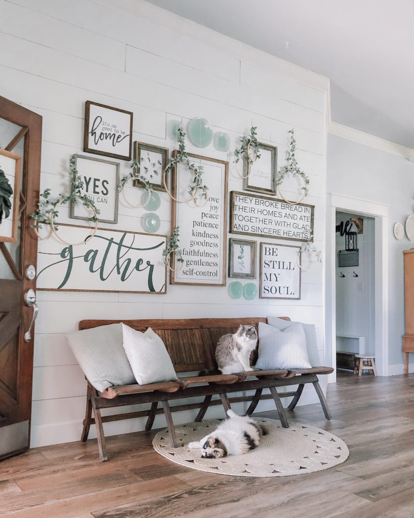 gallery wall wood signs farmhouse decor
