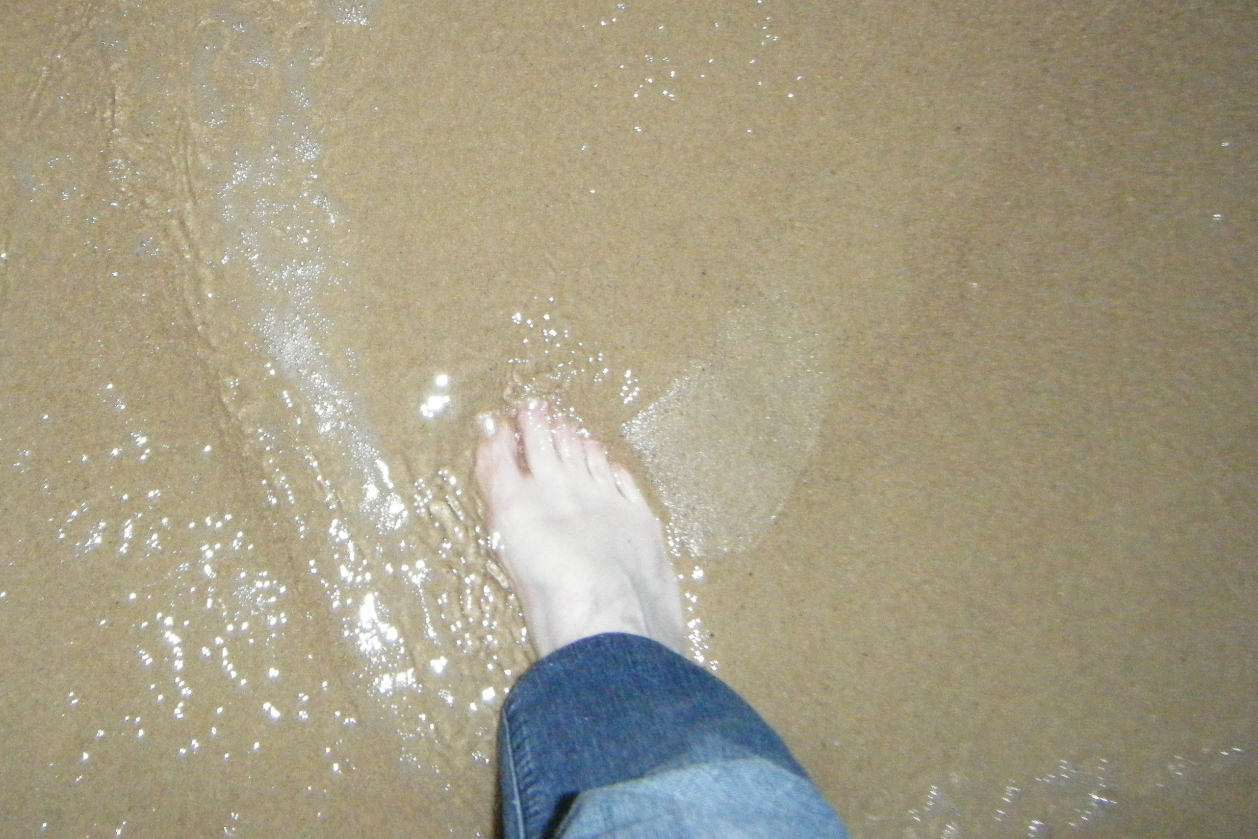 Foot in water.