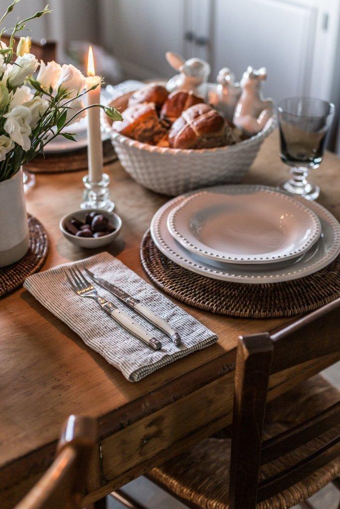 Easter Table Setting linen napkins - Cottonwood & Co
