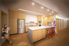 Rendering of kitchen space