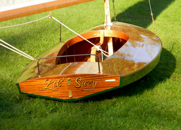 """Custom wooden boats moth class sailboat """"Lil Suzy"""" built by Cottrell Boatbuilding"""