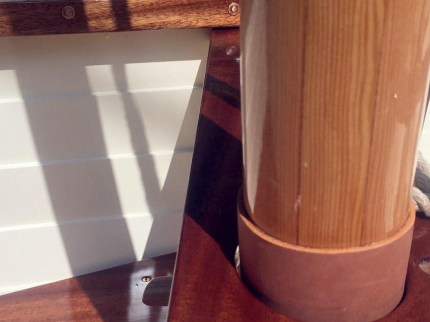 Penobscot Wherry mast close up