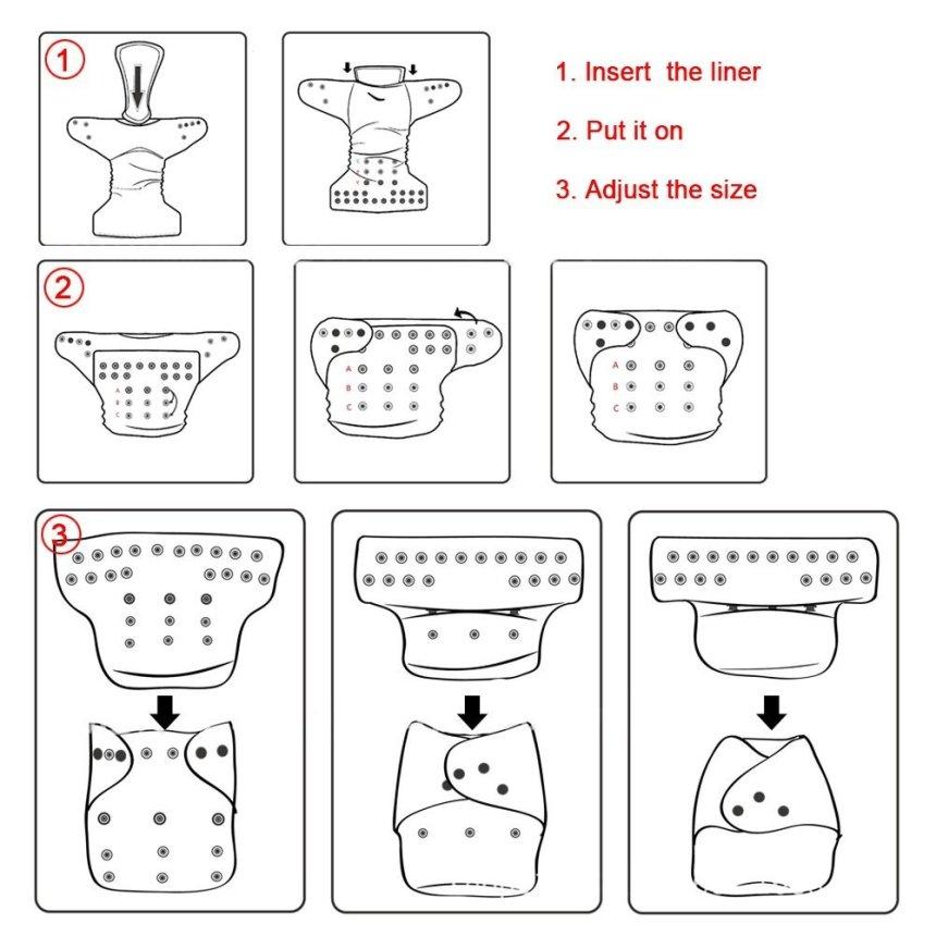 Couches lavables iZiv Taille Nouveau-Né 4