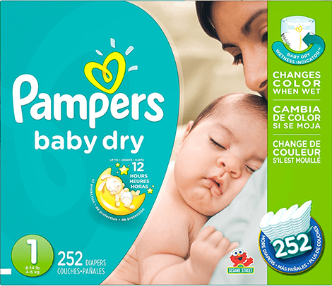 Les Couches Pampers Baby Dry Taille 1 Coucheca