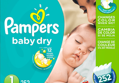 Les couches Pampers Baby Dry Taille 1