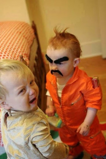 Un déguisement effrayant pour ce bébé