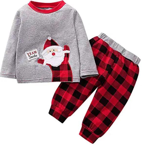 pyjama 2 pièces Team Santa pour les fêtes