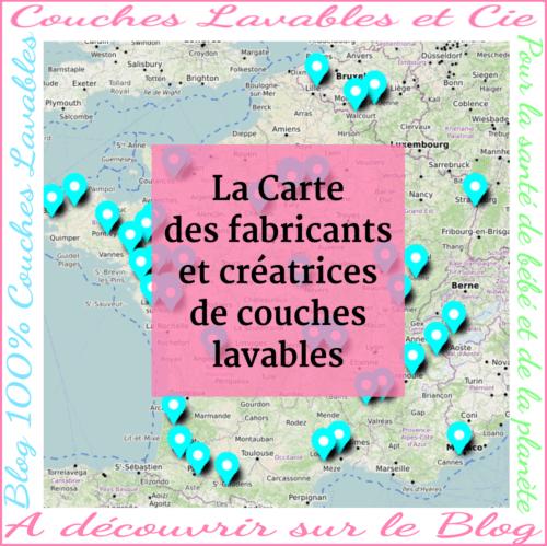 carte fabricants & créatrices couches lavables