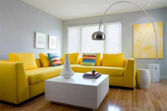 best sofa bed loveseat slipcover queen anne brighten up your living room with 2018 stunning yellow ...