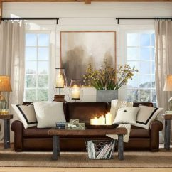 Orange Fabric Sectional Sofa Hide A Bed Simmons How To Enhance The Look Of Brown Leather Sofa? - ...