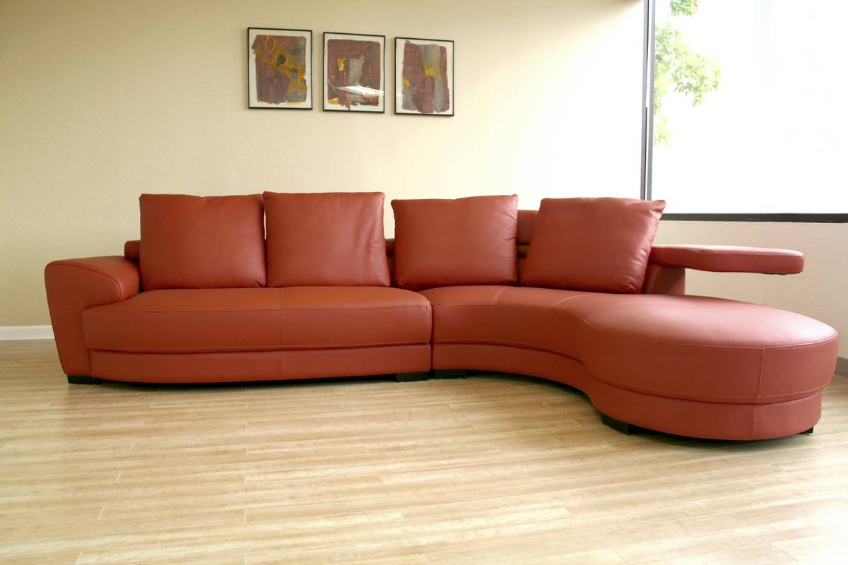 single couch chair cover serta warranty contact the incredible effect of a curved leather sofa upon your apartment - sofas