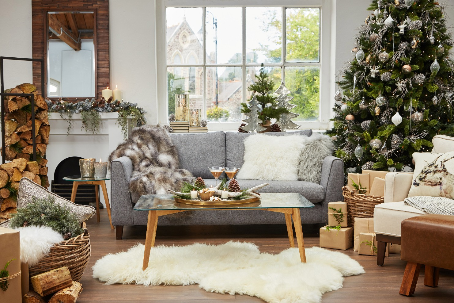 futon and chair set dining table with chairs bench how to style your sofa christmas decorations for this year - best sofas