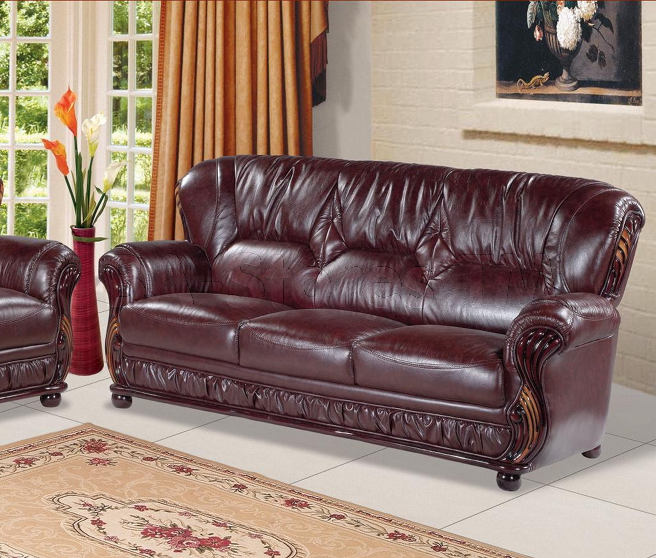 burgundy leather sofa and loveseat fix a as seen on tv 2017 sofas warm inviting living room