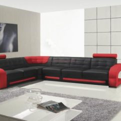 Sofa Sectionals Covers Leather Corner Cheap 2018 Red And Black Sofas - A Striking ...