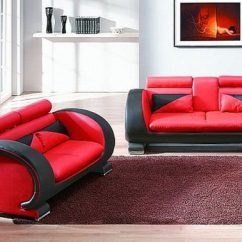 Black Leather Sofa Cushion Covers Dfs Lime Green Fabric 2018 Red And Sofas - A Striking ...