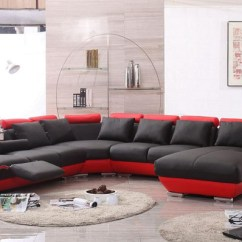 Sleeper Sectional Sofa Reclining Loveseat Floor Furniture 2018 Red And Black Leather Sofas - A Striking ...