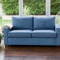 Genuine Leather Sofa And Loveseat Material Mix Sofas 2018 Trendy Blue For Bright Homes - ...