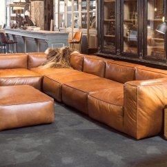 Leather Sofa Couch Cat Bed Throne Cognac Sofas Are Now On Trend For 2018 Homes
