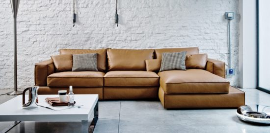 4 seater leather sofa prices affordable sofas online cognac are now on trend for 2018 homes ...