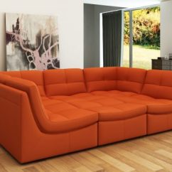 Sagging Sofa Outdoor With Lights Orange Leather Sofas - Bright Look Warm And ...