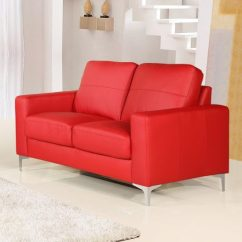 Sofa Covers For Leather Sectionals Thomasville Prices Small Red Sofas Vibrant Living Area In ...
