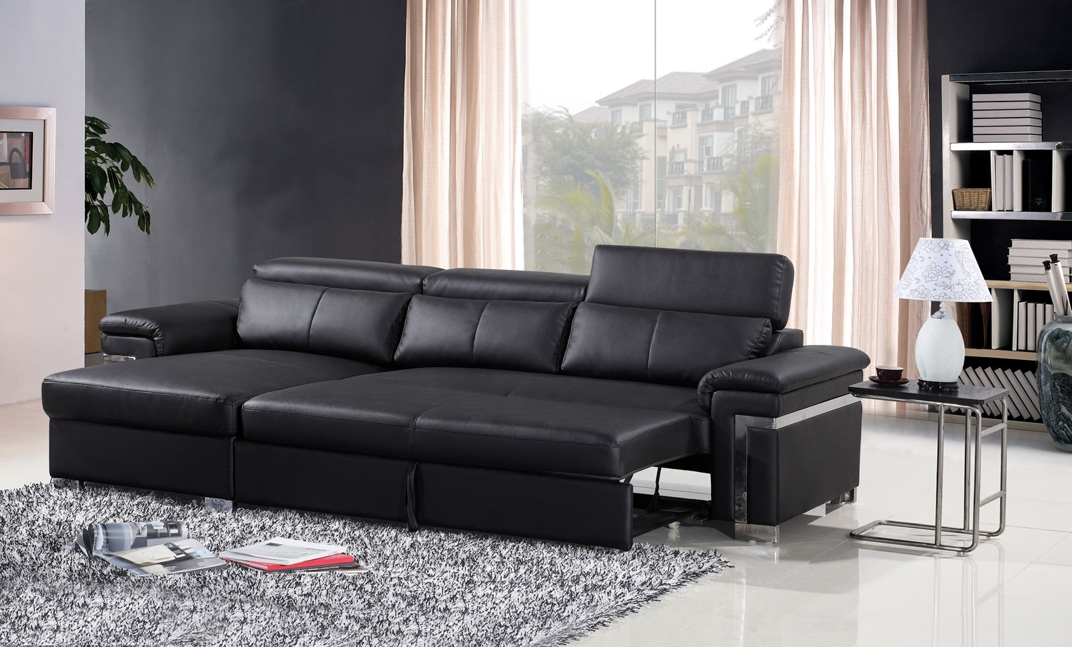 dual reclining sofa slipcover dry cleaning covers cost the best picks of colored leather beds in 2018 ...