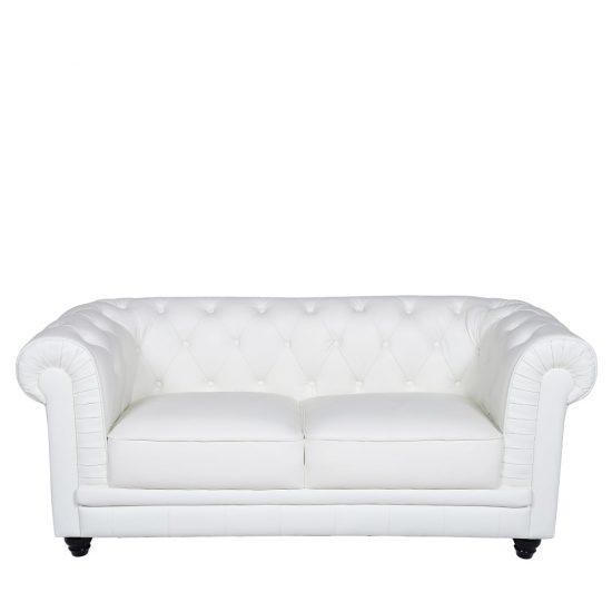 white chesterfield 3 seater sofa pillows ideas 2-seater leather sofas in best choice to brighten up ...