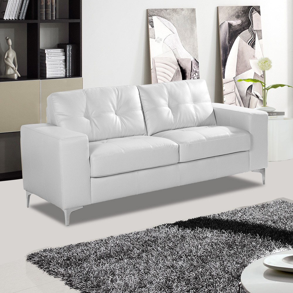 single couch chair cover outdoor dream how to clean your white leather sofa keep it bright as new - sofas