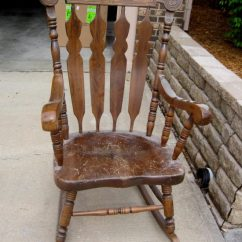 Antique Rocking Chair Leather Seat Plastic Folding Chairs Wholesale Press-back Designs You Will Admire - Accent