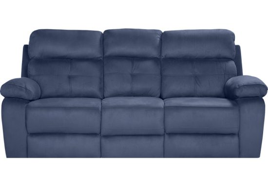 dual reclining sofa and loveseat leather the perfect blue designs for your living ...