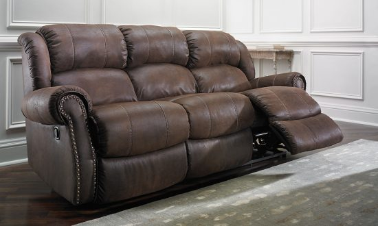 nailhead trim leather sofa set tv room designs dual recliners in 2018 a mix of function, comfort ...