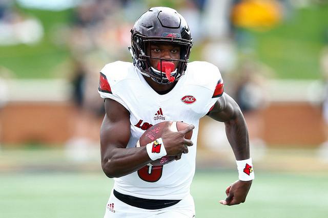 Lamar Jackson Quarterback NFL Draft Combine