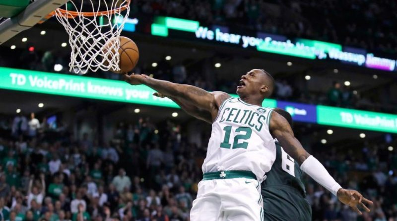 quality design 688d1 3f3f5 WATCH: Terry Rozier Really Loves Drew Bledsoe -