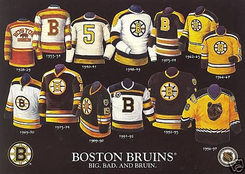 uk availability 9d1b2 cd89c Bruins Power Rankings: Top Six Jerseys in Franchise History -