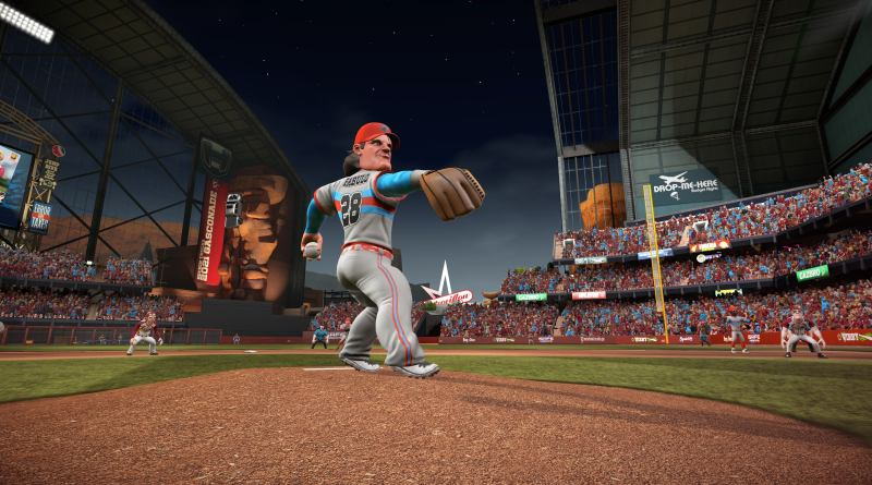 "a pitcher in ""super mega baseball 3"""