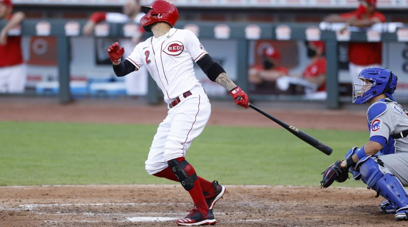 Nick Castellanos hitting for the Reds