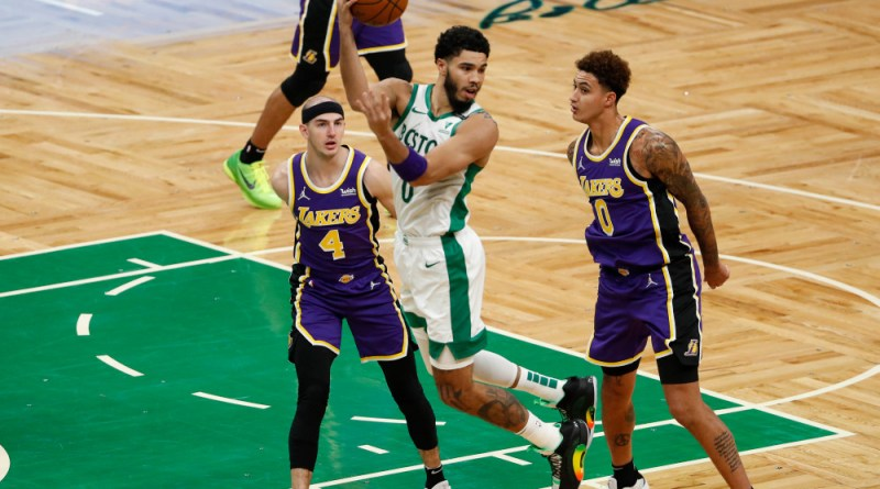 Jayson Tatum's pass against the Lakers
