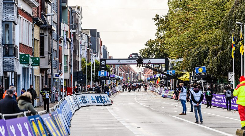 The picturesque finish line of Gent-Wevelgem In Flanders Fields.