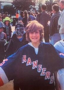Adam Fox grew up a big Rangers fan.