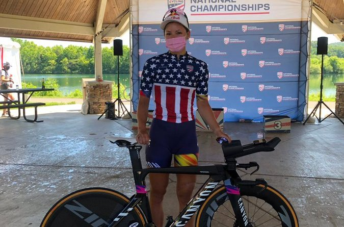 Chloé Dygert, pictured after winning the 2021 USA Cycling ITT National Championship, will be one of the medal hopefuls for the United States in Tokyo